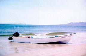 Panga fishing boat